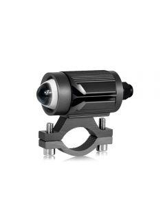 CNSUNNYLIGHT Tri-model Motorcycle LED Headlight w/ Mini Projector Lens Car ATV Driving Foglight Auxiliary Spotlight