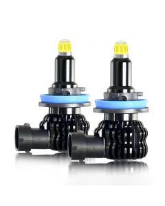 2Pcs H1 H7 H11 LED Bulb Car Fog Light 8-side 360-degree H8 H3 9005 9006 12V 6000K For Auto Headlight