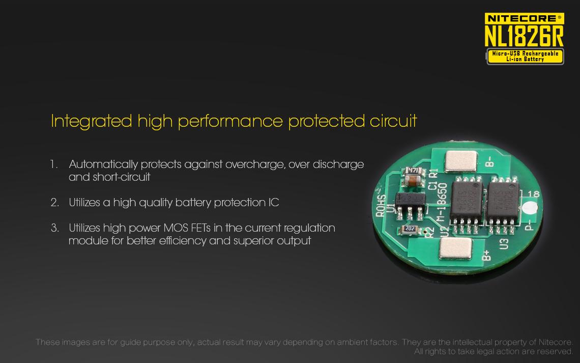 Buy Nitecore Nl1826r 36v 18650 Battery High Performance Micro Usb D010 Led Driver Wiring Diagram Li Ion 1